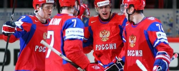 Хоккейная сборная России вернулась в Москву из Праги