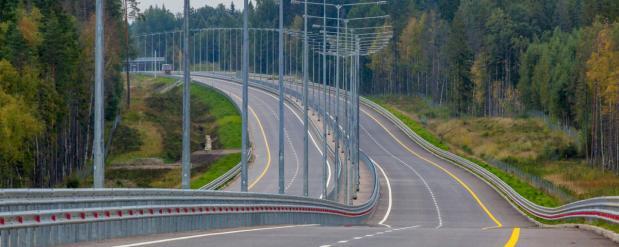 Заключительный этап трассы М11 Москва – Санкт-Петербург был введен в эксплуатацию
